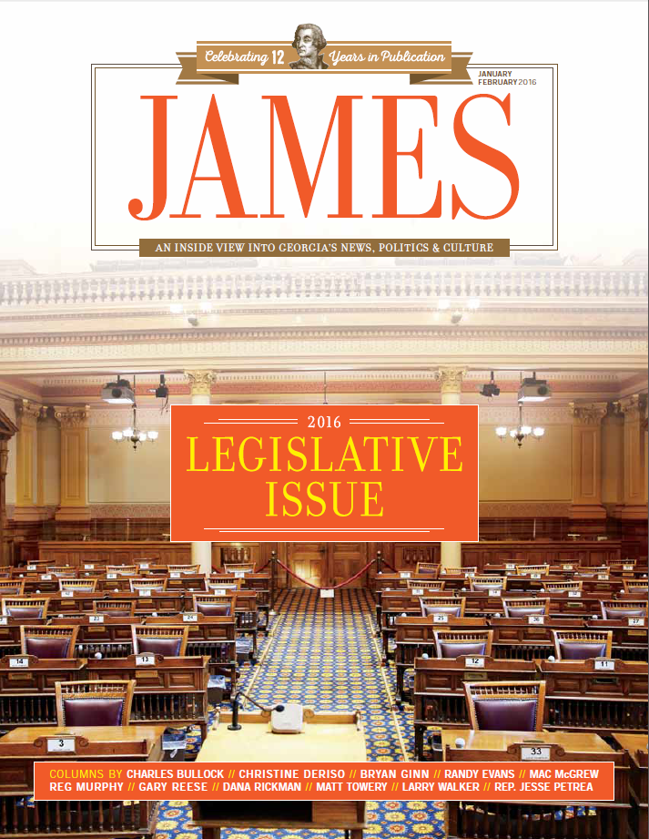 James Jan Feb 2016 Cover