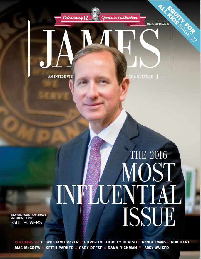 James Most Influential 2016 Cover